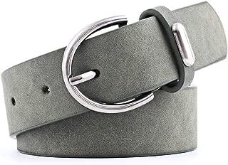 SGJFZD Women's PU Belt Alloy Accessories Fashion Trend Beautiful Wild Pin Buckle Belt Frosted Skin Belt Women (Color : Green, Size : 103 * 3cm)
