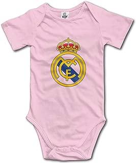 Real Madrid Logo Unisex Baby Jumpsuit Short-Sleeve Cotton Bodysuits