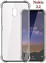 Jkobi Silicon Flexible Shockproof Corner TPU Back Case Cover For Nokia 2.2 -Transparent