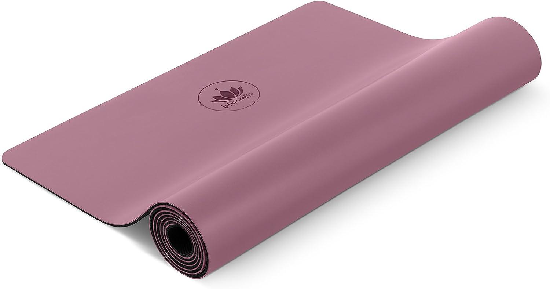 Lotuscrafts Yogamatte Pure - extrem Rutschfeste PU-Oberflche - kologisch aus Naturkautschuk - Profi Yoga Matte ideal für Hot Yoga und Ashtanga Yoga - extra breit [183 x 66 x 0,4 cm]