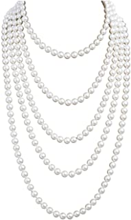 Elegant Vintage Necklace Vintage Faux Pearl Triple Stranded Twist 19 inch Necklace Faux Seed Pearl Necklace White necklace