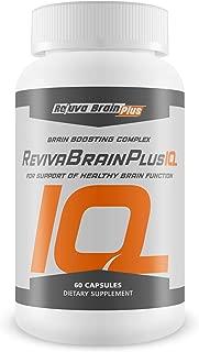 Reviva Brain Plus IQ - Support Healthy Brain Function - Brain Boosting Complex - Rejuva Brain Plus Ultra Blend Formulated with DMAE, Vitamin B12, Folic Acid, L-Glutamine, Taurine, and More