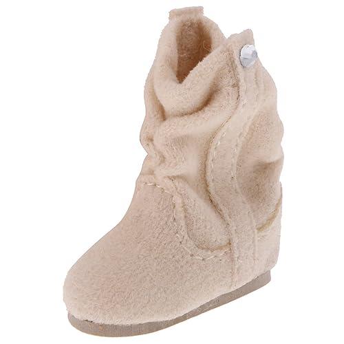MagiDeal Paire 1/6 Bottes Hiver Chaussures de Poupée Bottines Pour 12 '' Blythe Dolls Accs - Beige