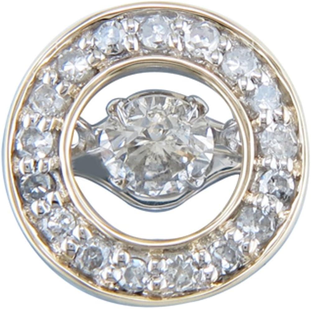 JMS Jewelry 10K Two Tone Yellow Dancing White excellence Washington Mall Gold Diamond Circl