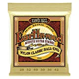 Ernie Ball Earthwood Folk Nylon Ball End Set,...