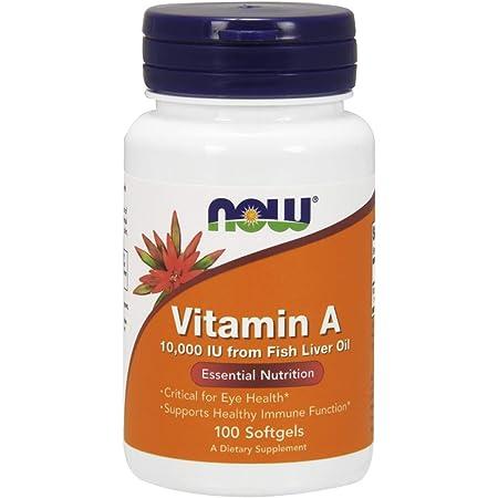 Now Foods Vitamin A 10,000 IU 100 Sgels