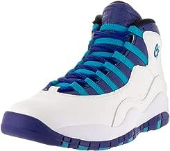 Jordan 310805-107 Men AIR Retro 10 White/Blue Lagoon/Black