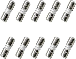 SIXQJZML 10 Pack F5AL Fast-Blow Mini Fuse 5A 5amp 125V Glass Fuses 0.14 x 0.39 Inch / 3.6 x 10 mm (125Volt) (F5A)