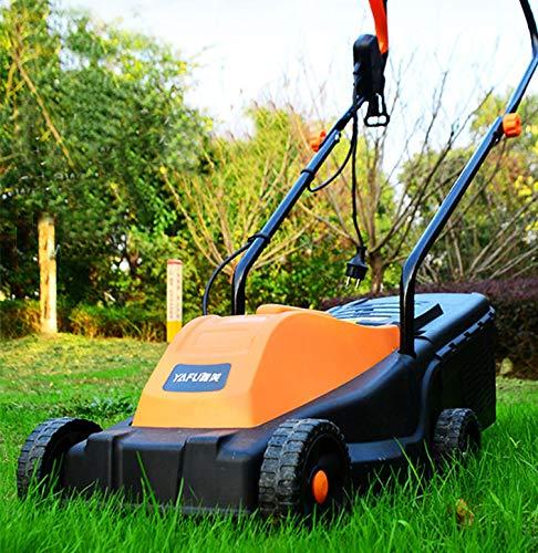 Elektrische grasmaaier met grasopvangbak met grote capaciteit, 3 verstelbare maaihoogtes en 16 inch maaibreedte