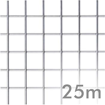 Malla electrosoldada galvanizada 25 Mt 25 x 25 x 2,0 mm 0.6 m