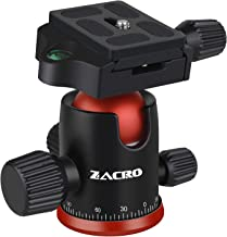 Zacro Camera Panoramic Ball Head - 360 Degree Rotating Tripod Head for Tripod/Monopod/Slider/DSLR Camera/Camcorder, Max Loading 10kg, Suitable for Cameras with 1/4in Screw