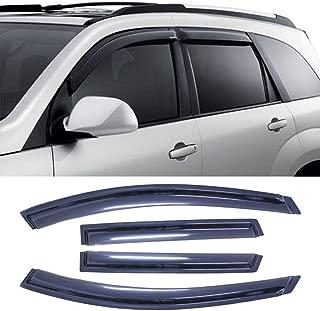 MGPRO 4pcs For 2009-2013 Nissan Rogue & 2014-2015 Nissan Rogue Select Sun Rain Guard Vent Shade Side Window Wind Deflectors Window Visors