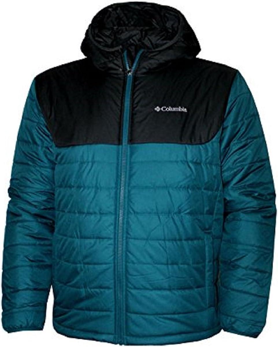 Columbia horstman Glacier II Hooded Men's Puffer Jacket Deep Water (Large)