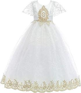 BCSHF Vestido de Princesa de Las niñas Vestido Vestido de Novia de Manga Corta de Pettiskirt niños de la Princesa de la Fa...