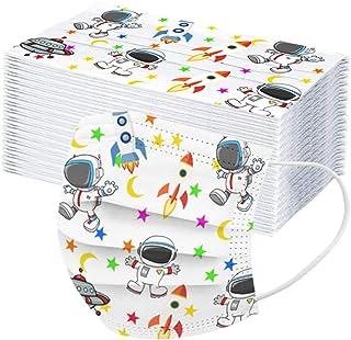 3 Ply Non-Woven Disposable Face Màcks,10/20/30/40/50pc Cartoon Dinosaur Breathable Face Bandanas Protection for Kids