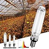 400W 600W 1000W HPS Plant Grow Lamp E40 25Ra High Pressure Sodium Lamp Energy Efficient Long Service Life...