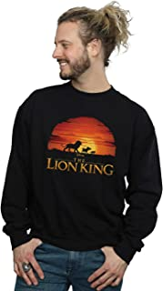 Disney Men's The Lion King Movie Sunset Logo Sweatshirt