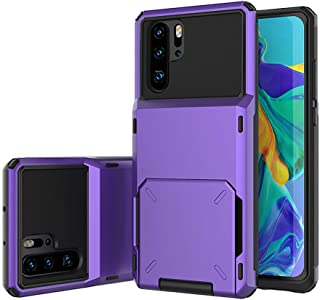 Galaxy Note 10 Plus Case, J.west Note 10 Plus Wallet Case with Hidden Credit Card Holder ID Slot Hard Cover for Samsung Galaxy Note 10 Plus 5G 6.8 inch (2019) Purple