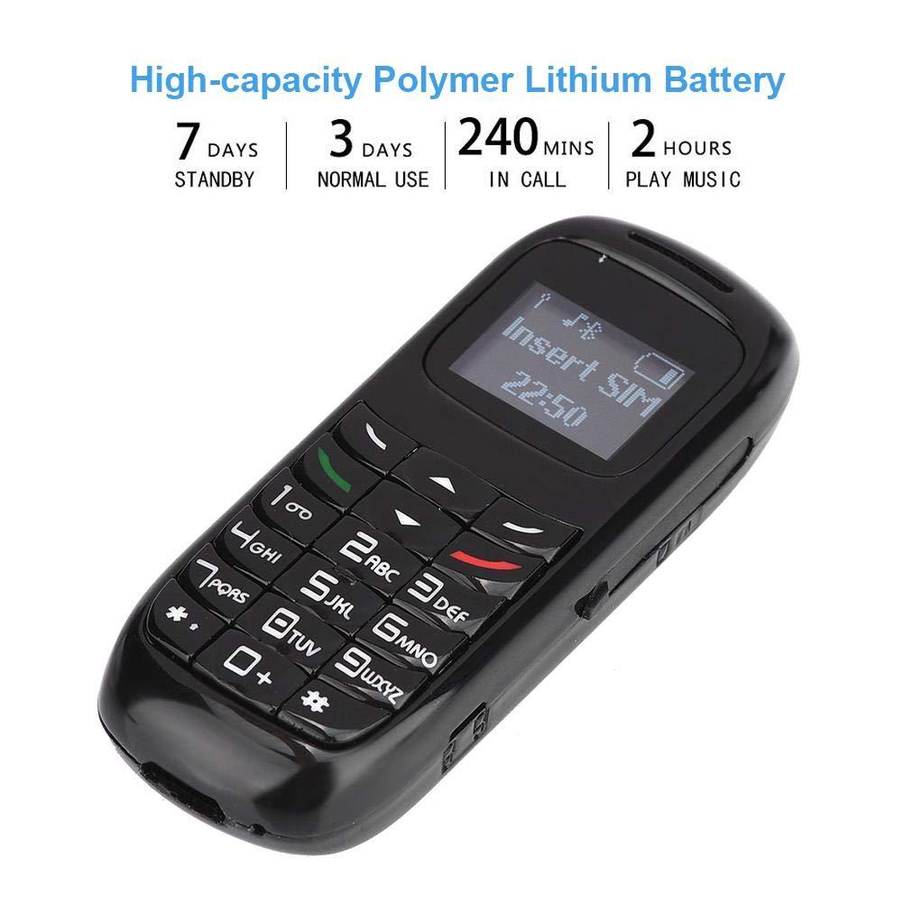 Mugast Mini Auricular para teléfono móvil, Bluetooth Nano SIM Card Dialer Auricular inalámbrico gsm Celular con batería de 300 mAh y función MP3(Negro): Amazon.es: Electrónica