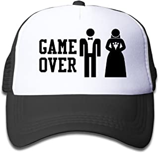 Waldeal Adults Unisex Game Over Baseball Cap Funny Bachelor Party Wedding  Humor Trucker Hats d3f76fa12279