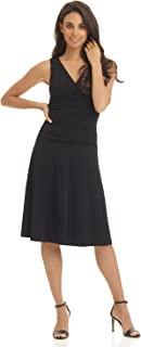 Women's Slimming Sleeveless Fit-and-Flare Tummy Control Dress