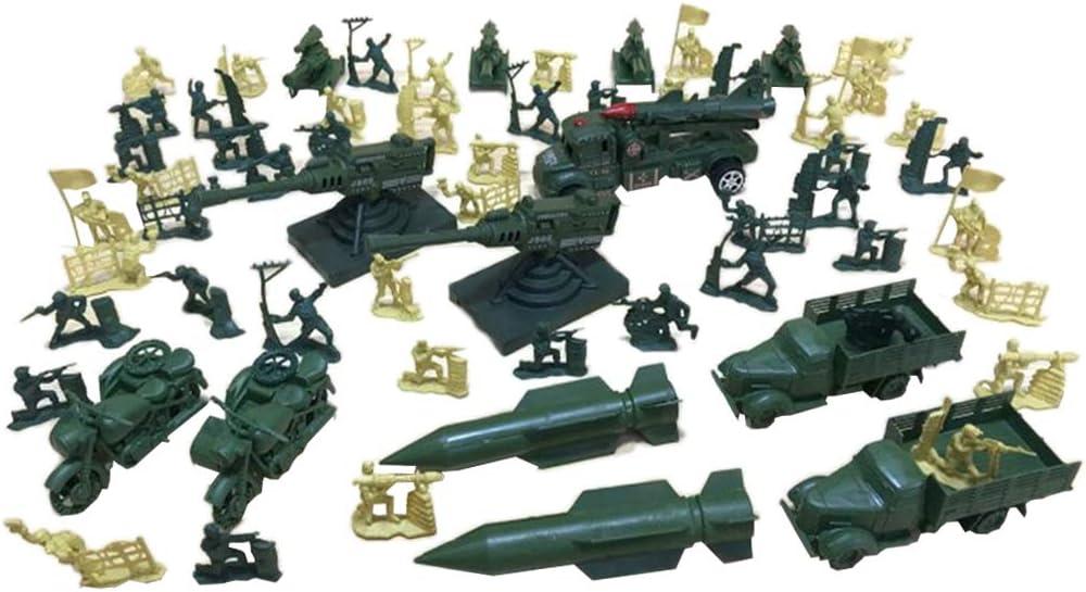 chiwanji 63Pcs Dallas Mall Plastic Miniature San Francisco Mall Toys Soldier Battlefield Figure