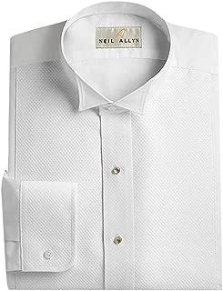 Men's Pique Wing Collar Tuxedo Shirt