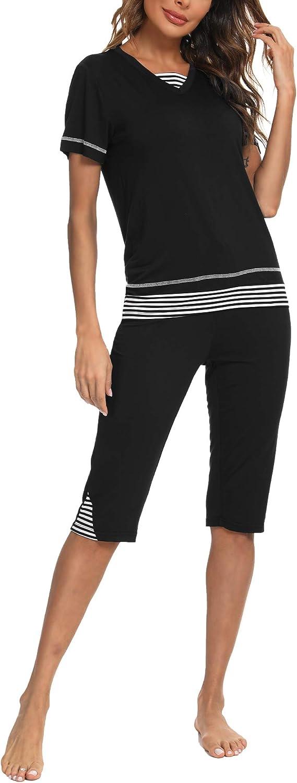TIKTIK Womens Bamboo Indianapolis Mall Pajama Set Comfy with P Capri Save money Top Sleepwear