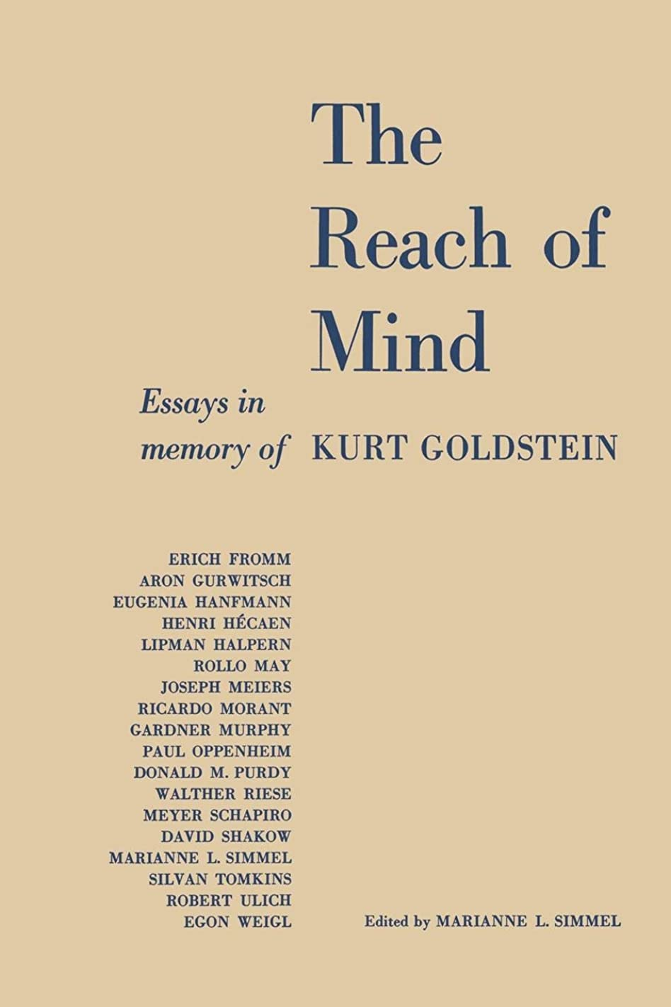 カウンターパート決定するフォーラムThe Reach of Mind: Essays in Memory of Kurt Goldstein