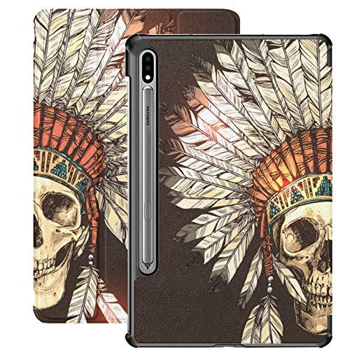 Funda para Samsung Galaxy Tab S7 de 11 pulgadas S7 Plus de 12,4 pulgadas, diseño tribal de calavera de azúcar