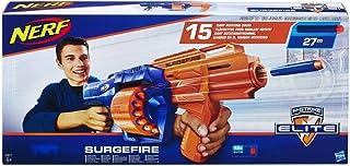 Nerf Elite- Elite Surgefire, Color azul, naranja, blanco (Hasbro E0011EU4)