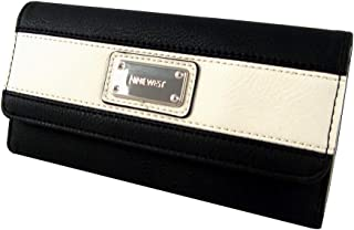 Segment Checkbook Wallet, Black/White