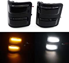 Xinctai Switchback LED Side Mirror Marker Light Turn Signal Lamp for 2008 to 2016 Ford F250 F350 F450 F550 Super Duty Pickup Truck, Smoke Lens/Clear Lens (Smoke Lens)