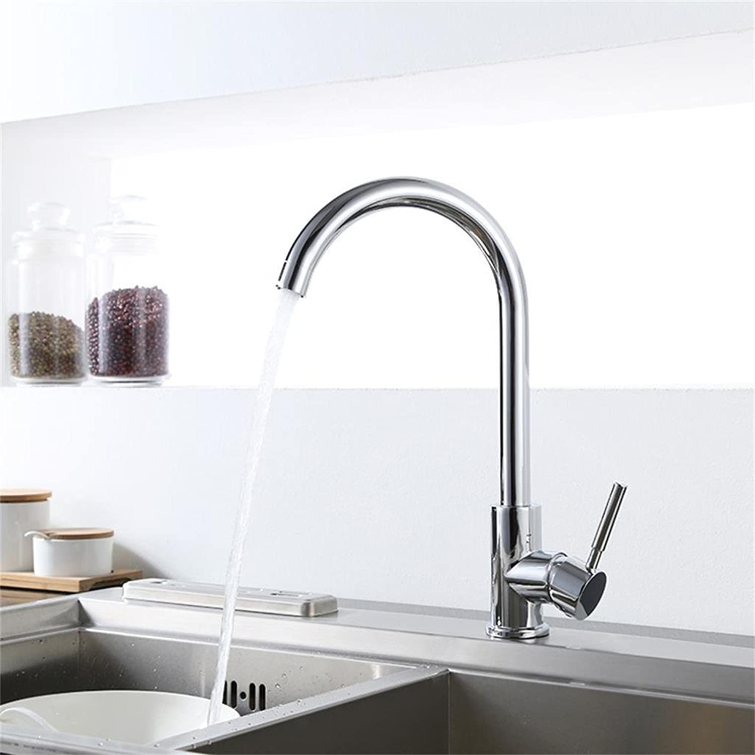 Deck Mounted Single Handle One Hole with Chrome Finish Kitchen faucet