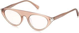 نظارات سي كيه جيه كونتور الشمسية للنساء بتصميم عيني القطة بلون رملي كريستالي غير لامع من كالفن كلاين جينز