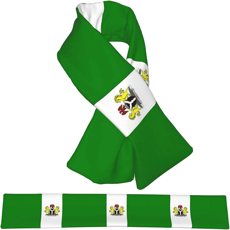 Winter Scarfs Flag Of Nigeria Scarves Wraps Neck Warmer Flannel Winter Cross Tie Scarves