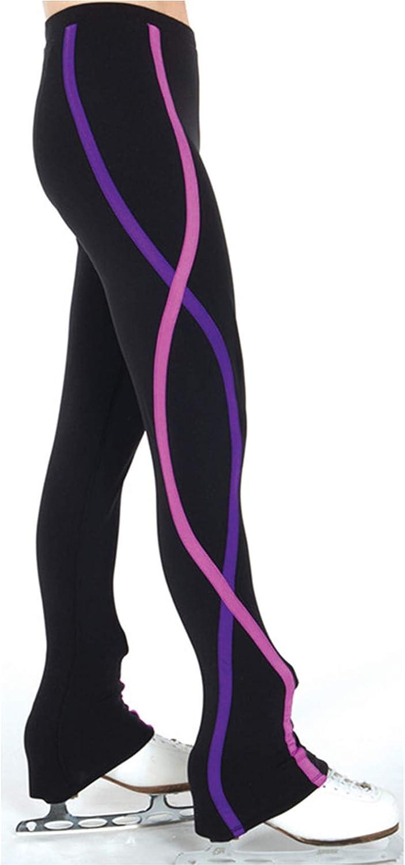 Pantaloni da Pattinaggio Artistico su Ghiaccio Ragazze Donne da Allenamento Skate Dress Collant Leggings ZRSH Pantaloni da Pattinaggio Artistico