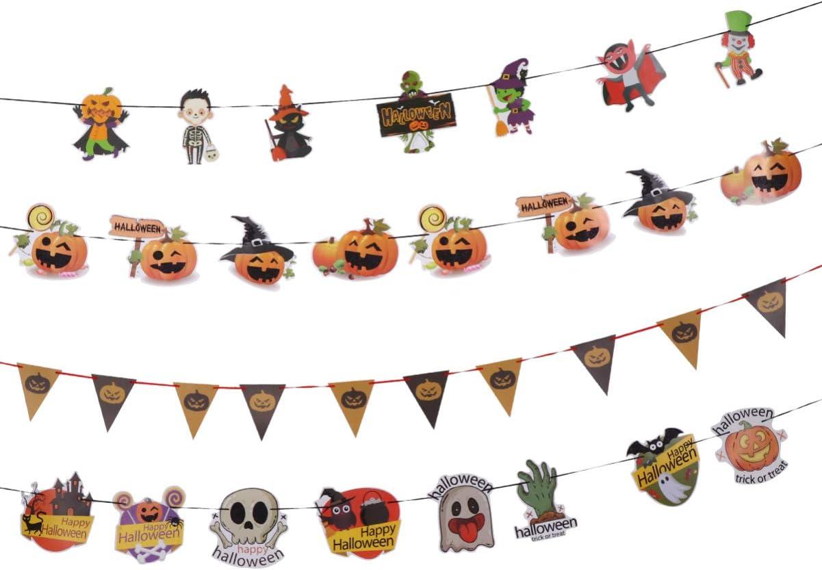 TOYANDONA Halloween Party Banner San Antonio Mall Buntin Direct sale of manufacturer Paper Garlands