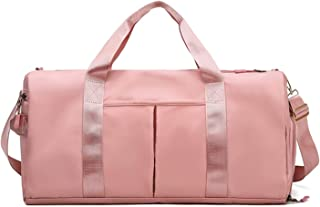 Waterproof Duffel Weekender Bag Pink For Women and Men Swim Sports Travel Gym Bag,19.3inch