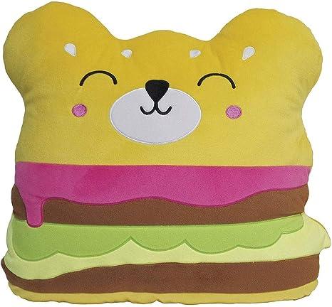 iscream Bubble Gum Scented Kawaii Bubble Tea Shaped 9.5 x 15 Microbead Pillow