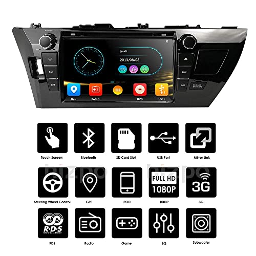 9 Inch Touch SCRRN Toyota Corolla 2014 2015 2016 Car Video Player GPS Stereo iPhone Music