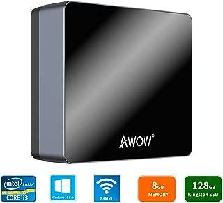 AWOW NYi3 Mini PC Intel Core i3 Windows 10 Pro Mini Computer(8GB DDR/128GB SSD/4K/Dual-Band Wi-Fi/Gigabit Ethernet/Dual HDMI/BT4.0)/Mini Desktop Computer