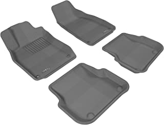 3D MAXpider Complete Set Custom Fit All-Weather Floor Mat for Select Audi A6/S6/RS6 Models - Kagu Rubber (Gray)