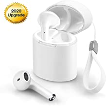 bluetooth wireless headphones, mini in-ear earphones touch control headset with rechargeable storage box compatible with Apple iPhone Samsung Galaxy Huawei Vivo Oppo Xiaomi