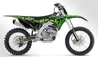 Kungfu Graphics Custom Decal Kit for Kawasaki KX250F KXF250 KX 250F KXF 250 2017 2018 2019 2020, Black Green