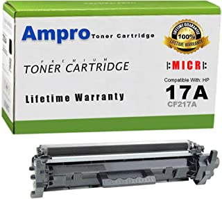 Ampro's CF217A MICR Toner or 17A MICR Toner Compatible Cartridge Replacement for HP CF217A MICR or HP 17A MICR for Use in HP Laserjet Pro M102w/M102a, MFP M130a/M130fn/M130fp/M130fw/M130nw Printers