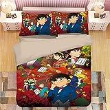 Detective Conan: Conan Edogawa Los adolescentes y la fan del animado del hogar Ropa de cama 3 piezas...