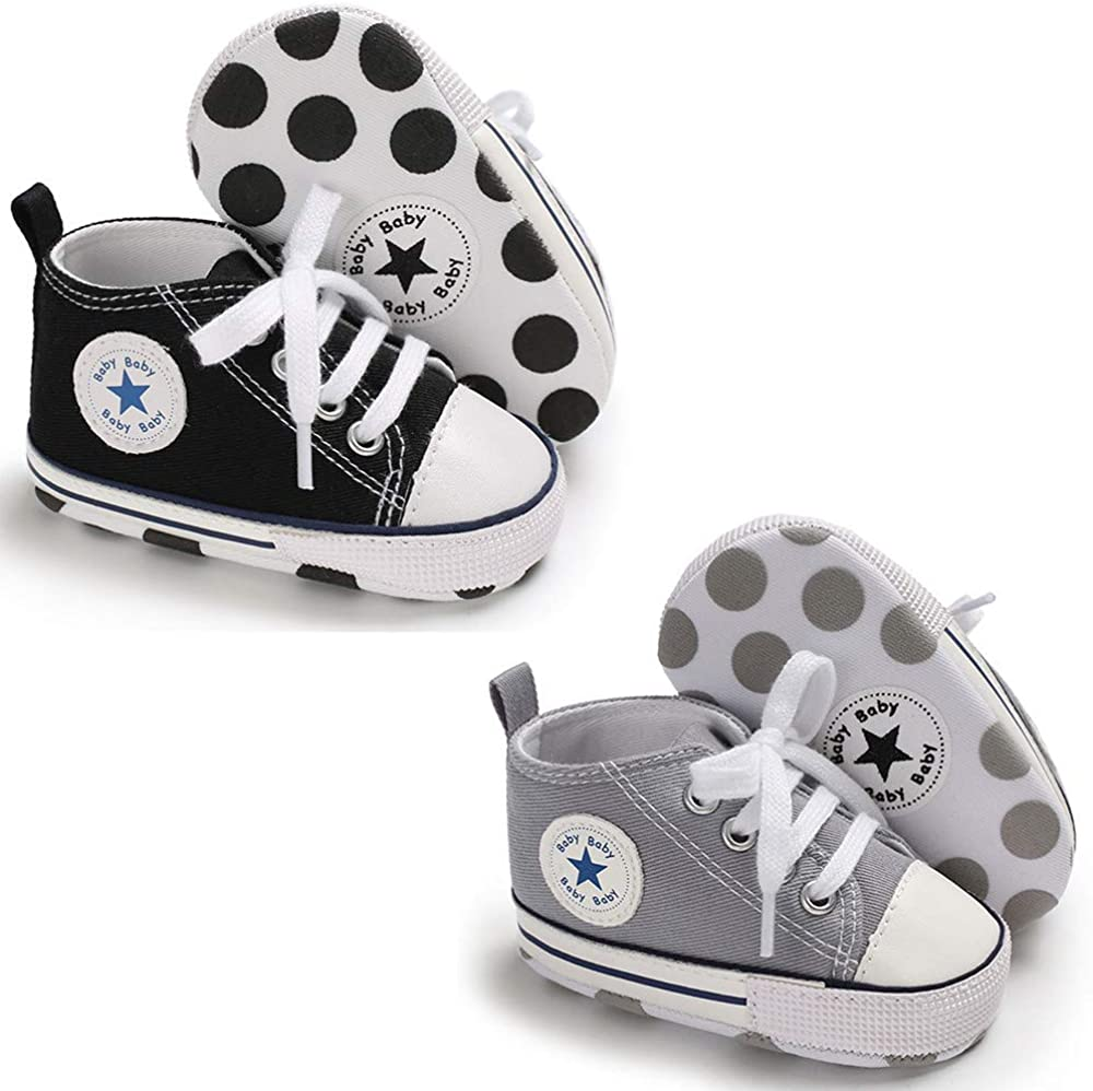 Meckior Newborn Ranking TOP12 Infant Baby Girls Boys S Sneakers Pairs Daily bargain sale Canvas 2