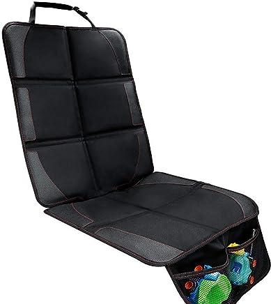 Protector de asiento de coche - Premium cubierta Isofix por asiento delantero y trasero con bolsillo y tamaño universal - Funda impermeable protegida de bebé coche contra daños/polvos/líquidos/pelos