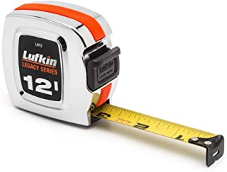 """Crescent Lufkin 3/4"""" x 12' Legacy Series Chrome Case Yellow Clad Tape Measure - L912"""